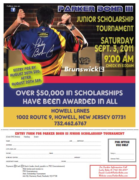 12th Annual Parker Bohn III Scholarship Tournament Entry